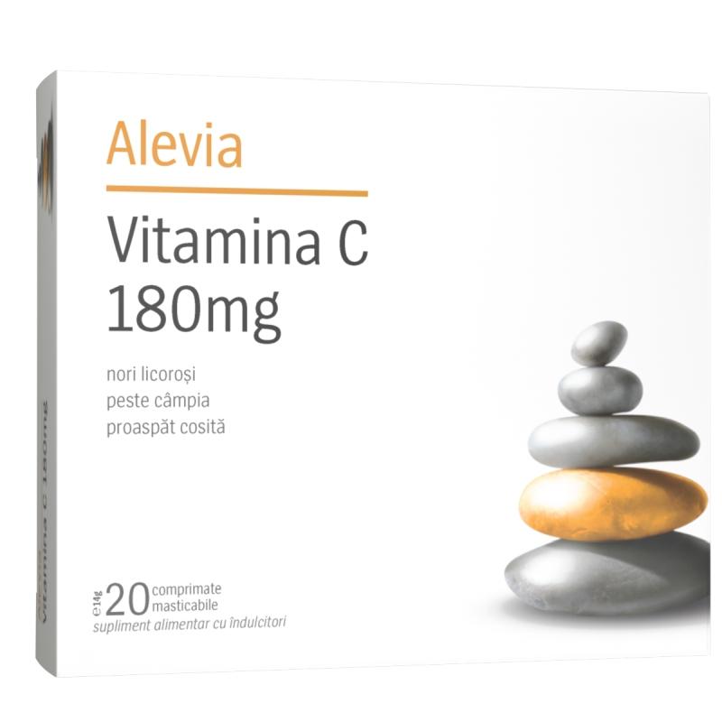 Vitamina C 180mg, 20 comprimate, Alevia drmax.ro
