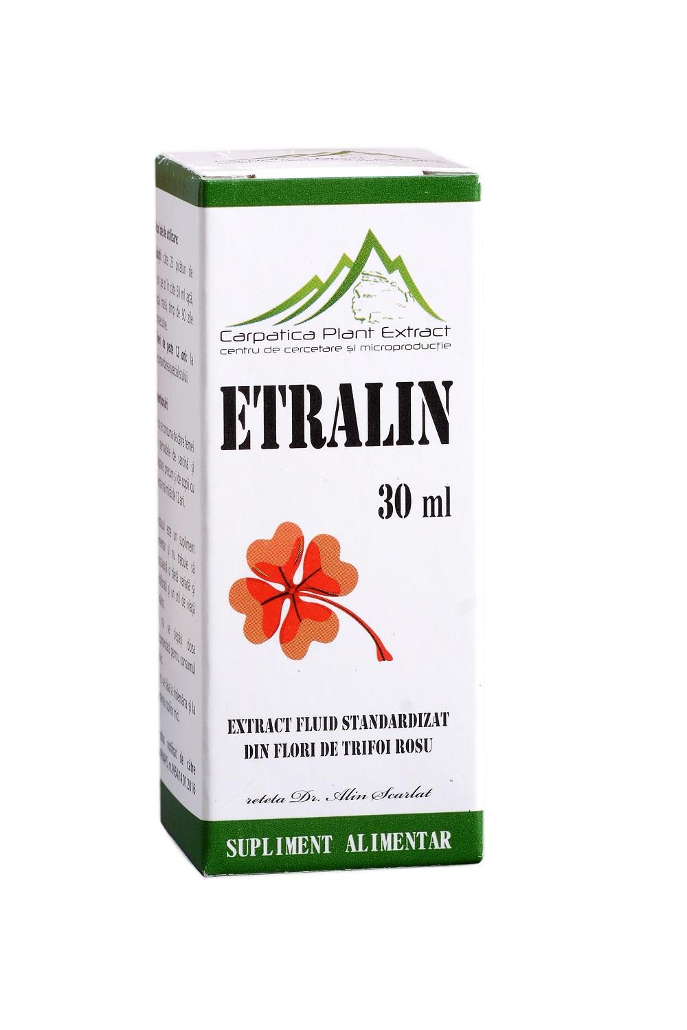 Etralin extract din flori de trifoi rosu, 30 ml, Carpatica Plant Extract imagine produs 2021