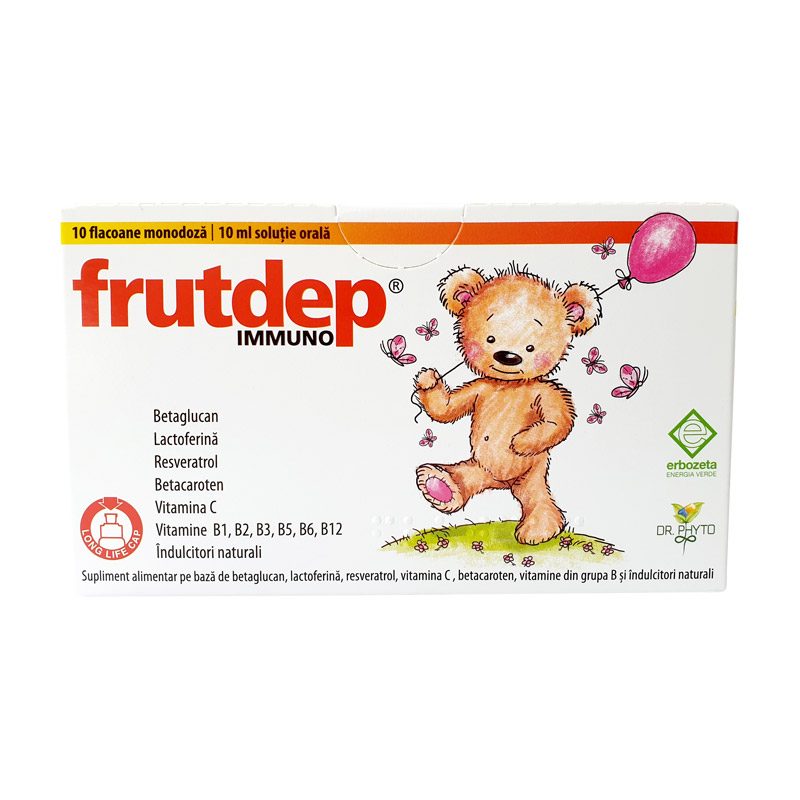 Frutdep Immuno, 10 flacoane, Dr. Phyto drmax.ro