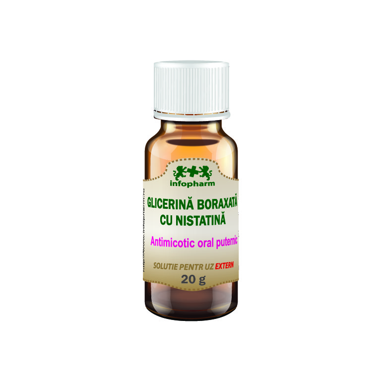 Glicerina boraxata cu nistatina, 20 g, Infopharm la preț mic imagine