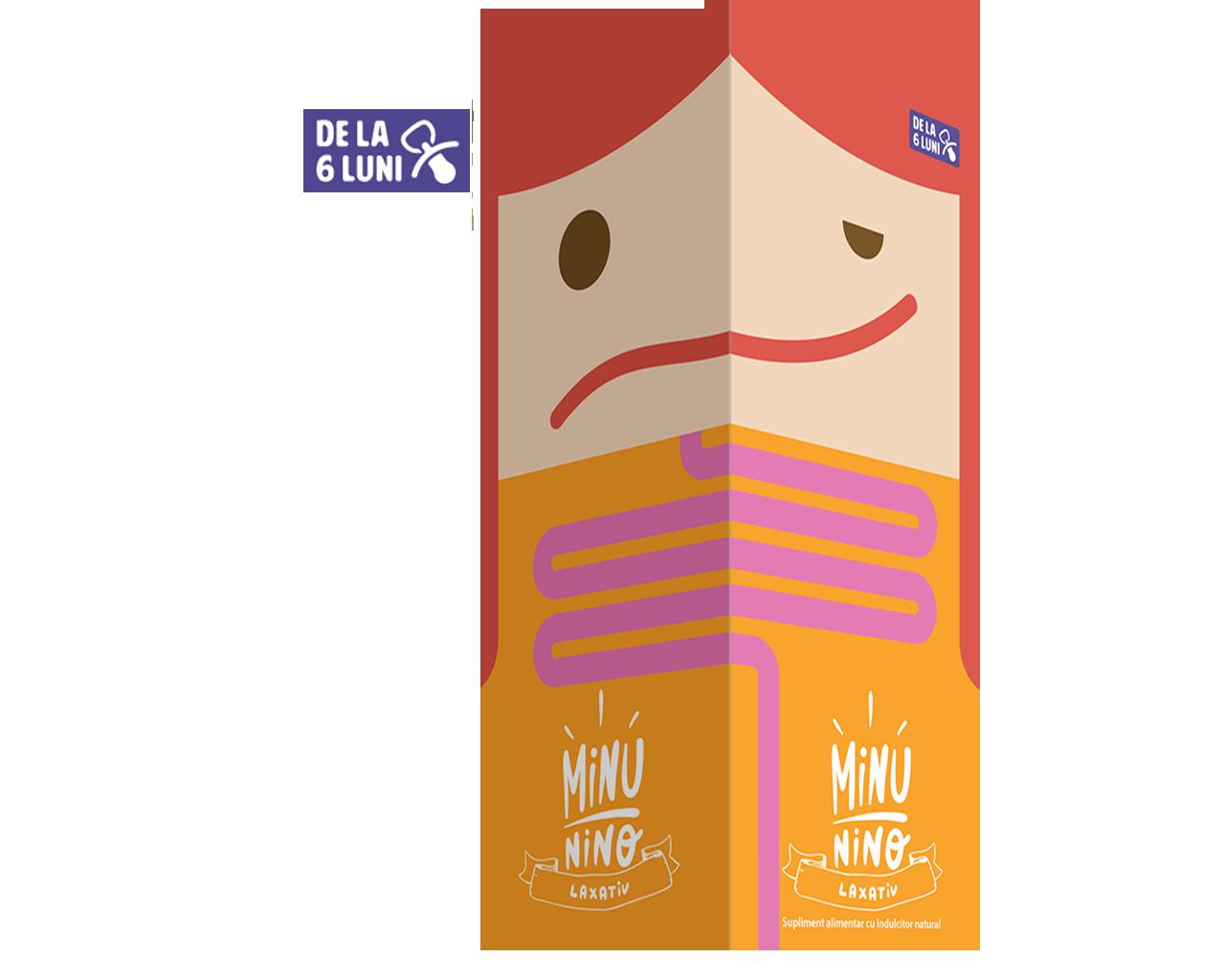Sirop laxativ Minunino, 100 ml, Medimow imagine produs 2021