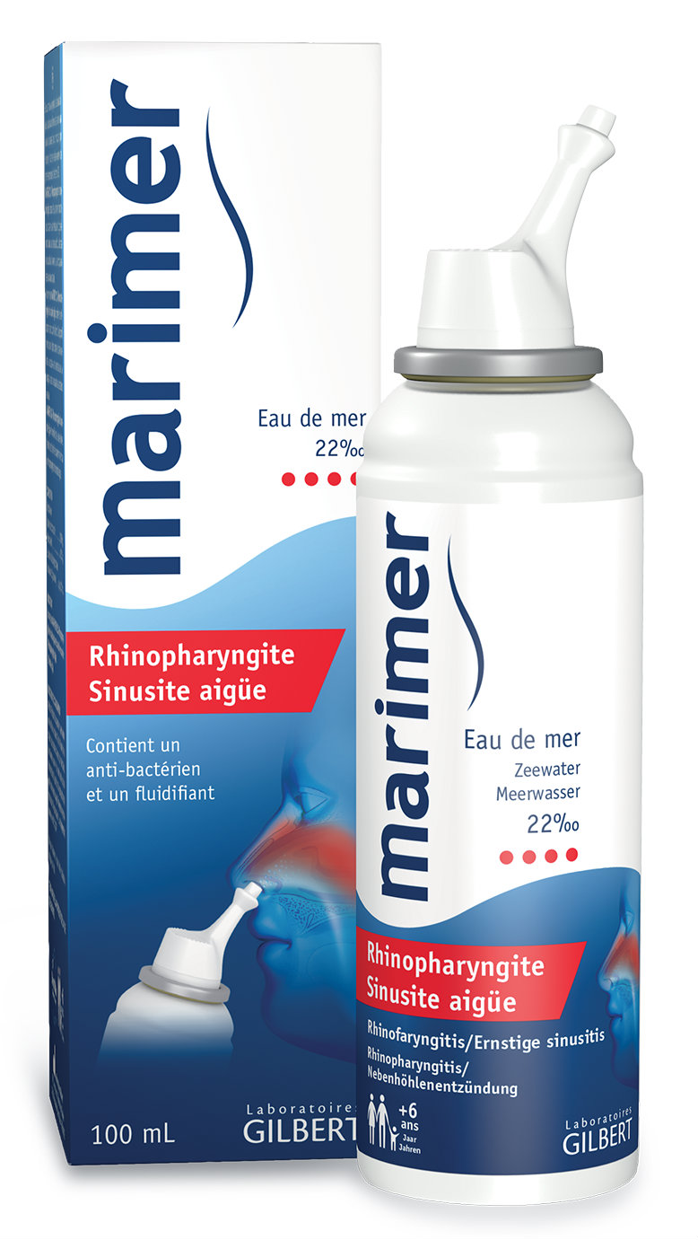 Marimer spray nazal pentru rinofaringita si sinuzita acuta, 100 ml, Gilbert imagine produs 2021