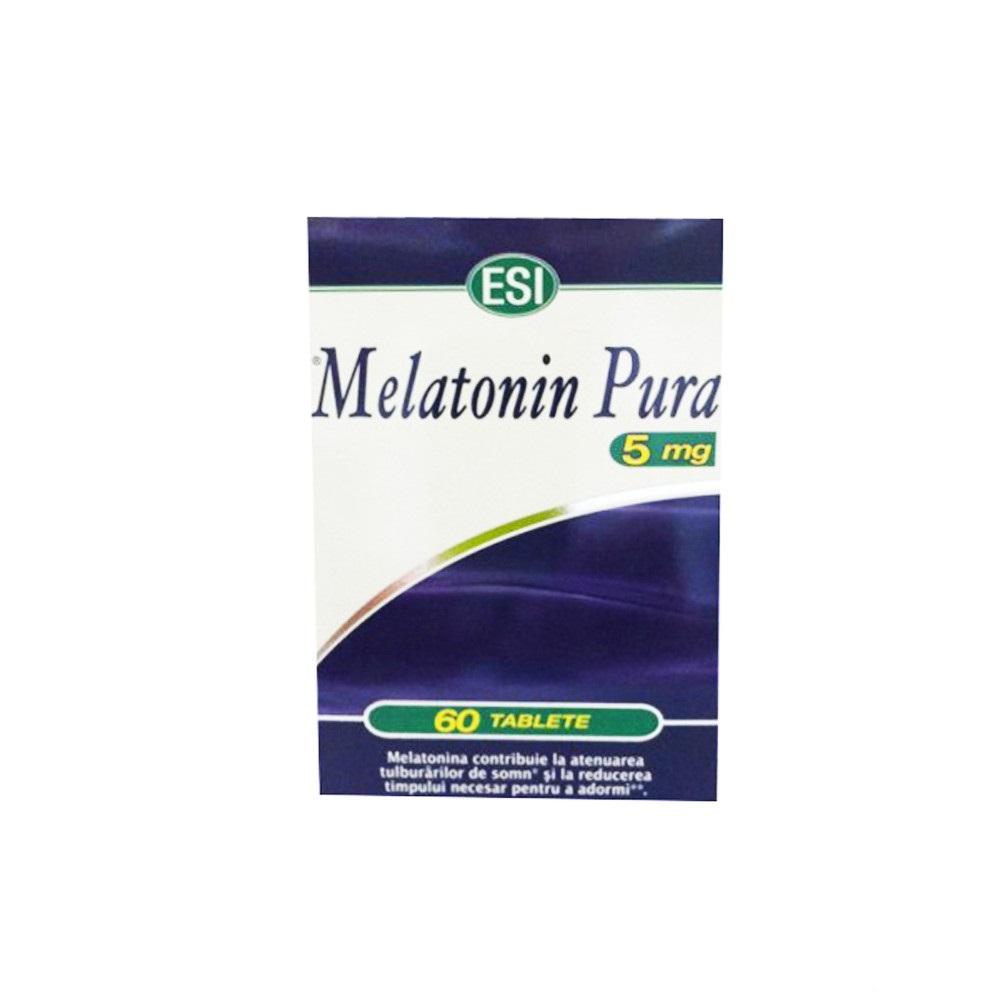 Melatonina Pura, 5 mg, 60 tablete, Esi Spa imagine produs 2021