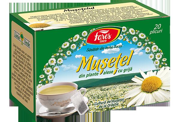 Ceai de Musetel, 20 plicuri, Fares drmax.ro