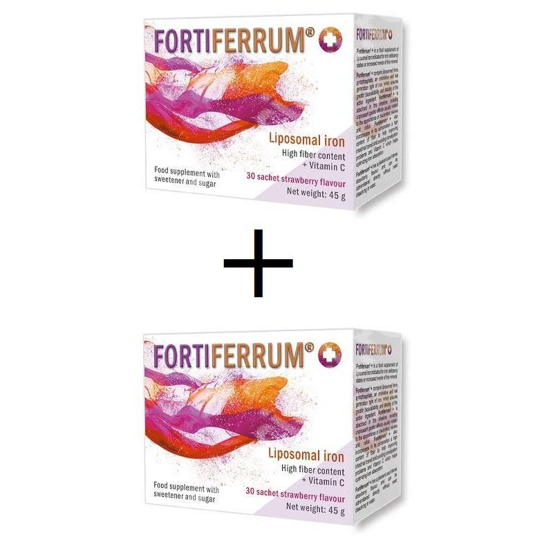 Fortiferrum, 30 plicuri, pachet 1 + 1 cadou, Esvida drmax.ro