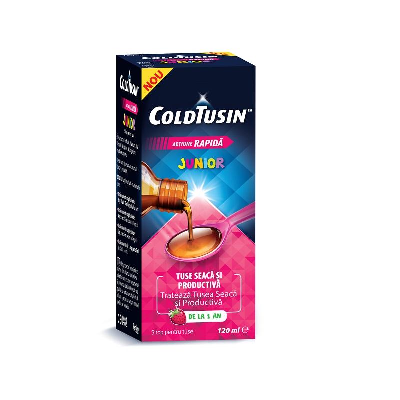 Coldtusin Junior sirop pentru copii, 120 ml, Omega Pharma