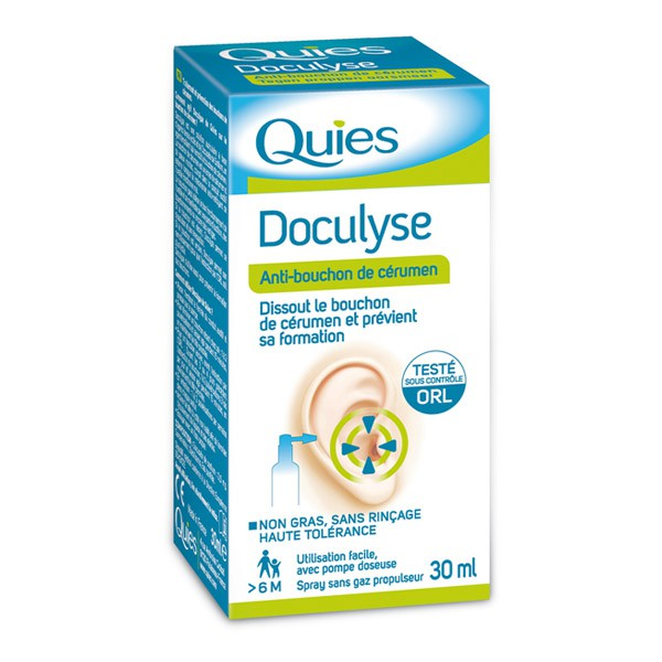 Spray auricular pentru eliminarea dopului de ceara Doculyse, 30 ml, Quies drmax poza