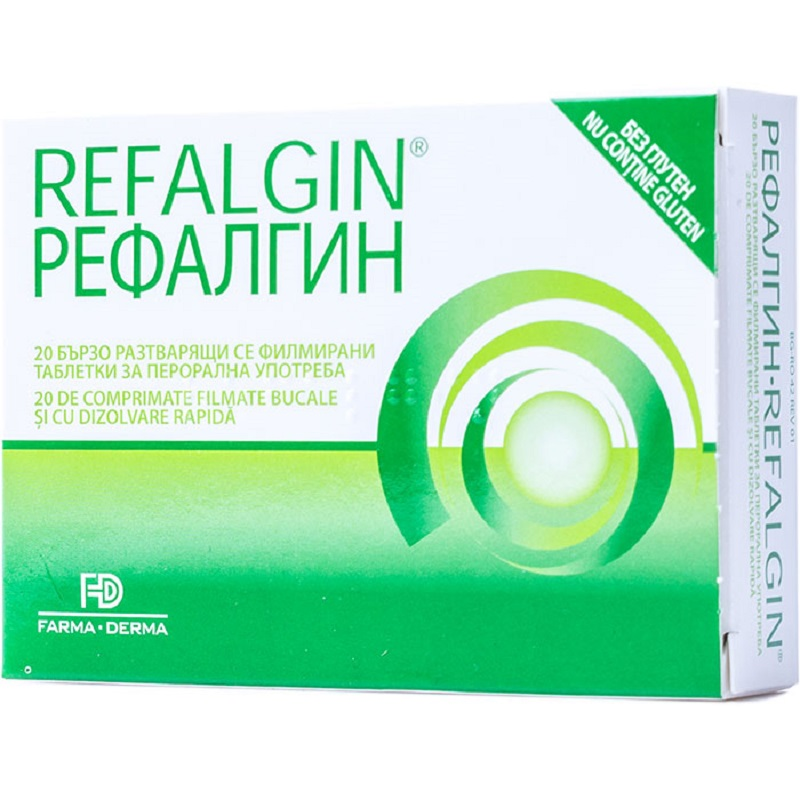 Refalgin, 20 comprimate, Farma-Derma imagine produs 2021