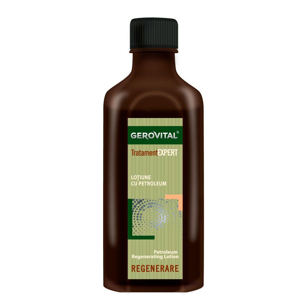 Lotiune regeneranta cu petroleum Tratament Expert, 100ml, Gerovital