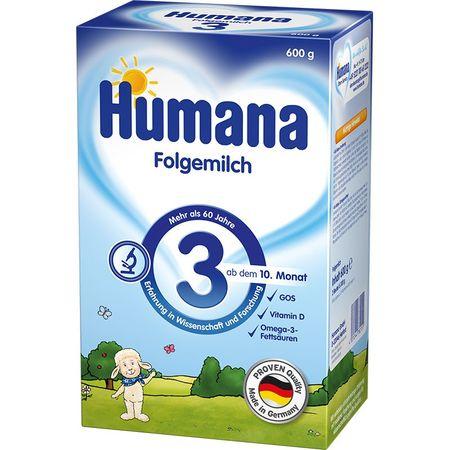 Lapte praf GOS 3, incepand de la 10 luni, 600 g, Humana