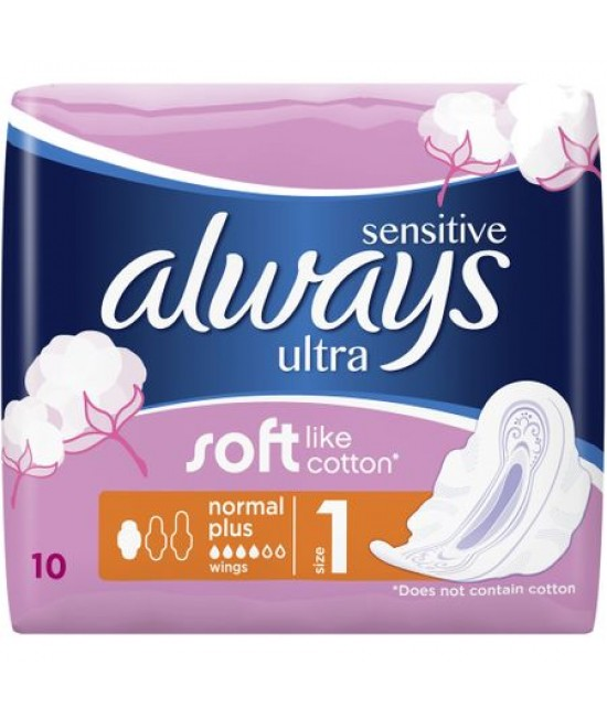 Absorbante Sensitive ultra plus, 10 bucati, Always