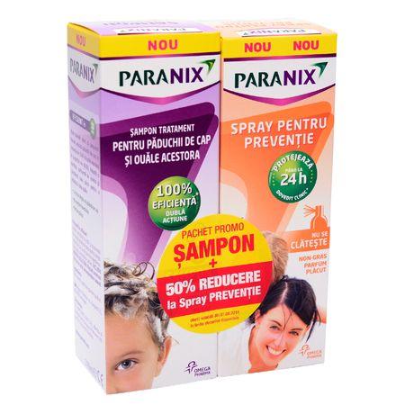 Pachet Sampon preventie impotriva paduchilor, 100ml + Spray pentru preventie, 100ml 50% din al doilea, Paranix la preț mic imagine