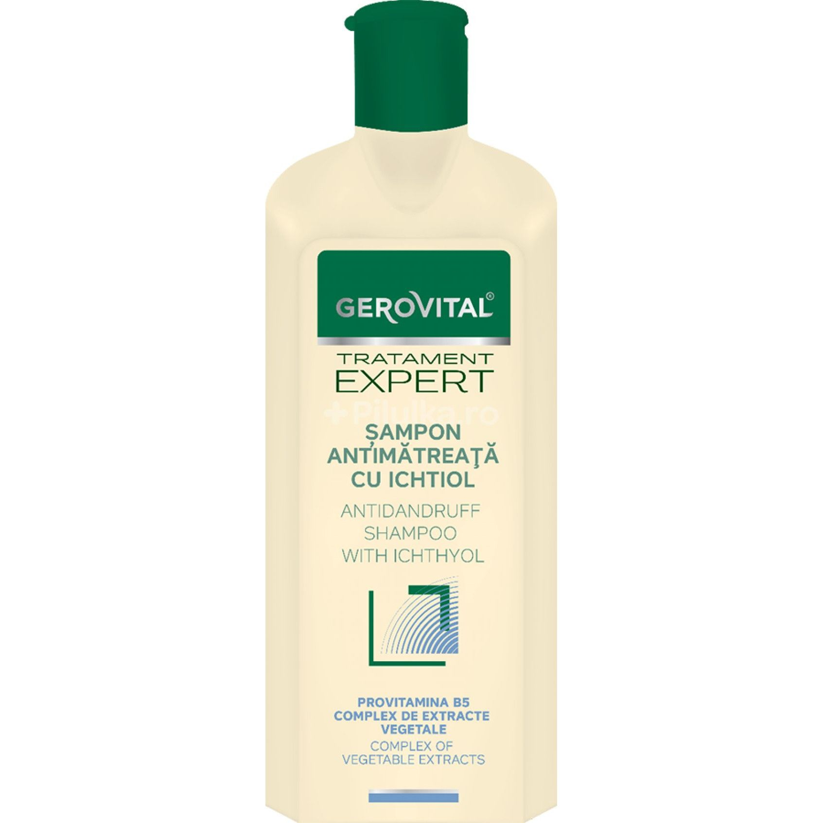 Sampon antimatreata cu ichtiol Tratament Expert, 250ml, Gerovital