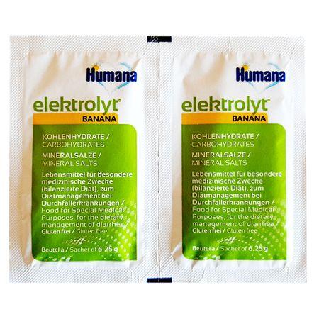 Saruri de rehidratare - banane, 2 plicuri x 6.25 g, Humana drmax.ro
