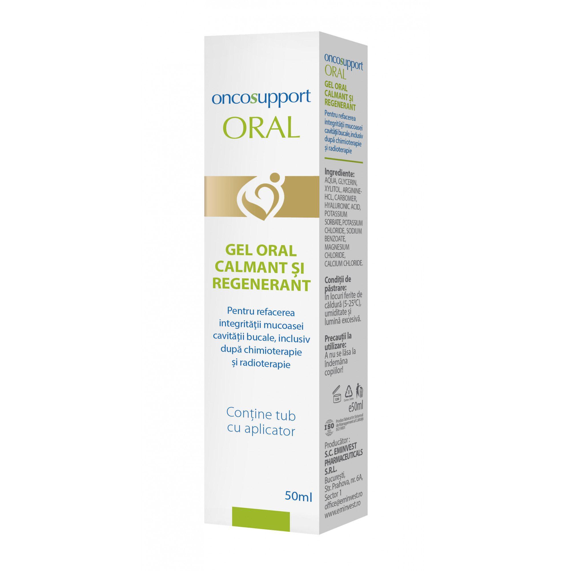 Oncosupport Oral Gel calmant si regenerant, 50 ml, Eminvest imagine produs 2021