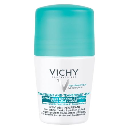 Deodorant roll-on antiperspirant anti-urme 48h, 50 ml, Vichy