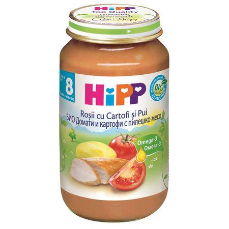 Rosii si cartofi cu carne de pui, incepand de la 8 luni, 220 g, HiPP
