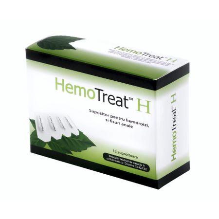 Supozitoare pentru hemoroizi Hemotreat H, 12 bucati, GlobalTreat imagine produs 2021