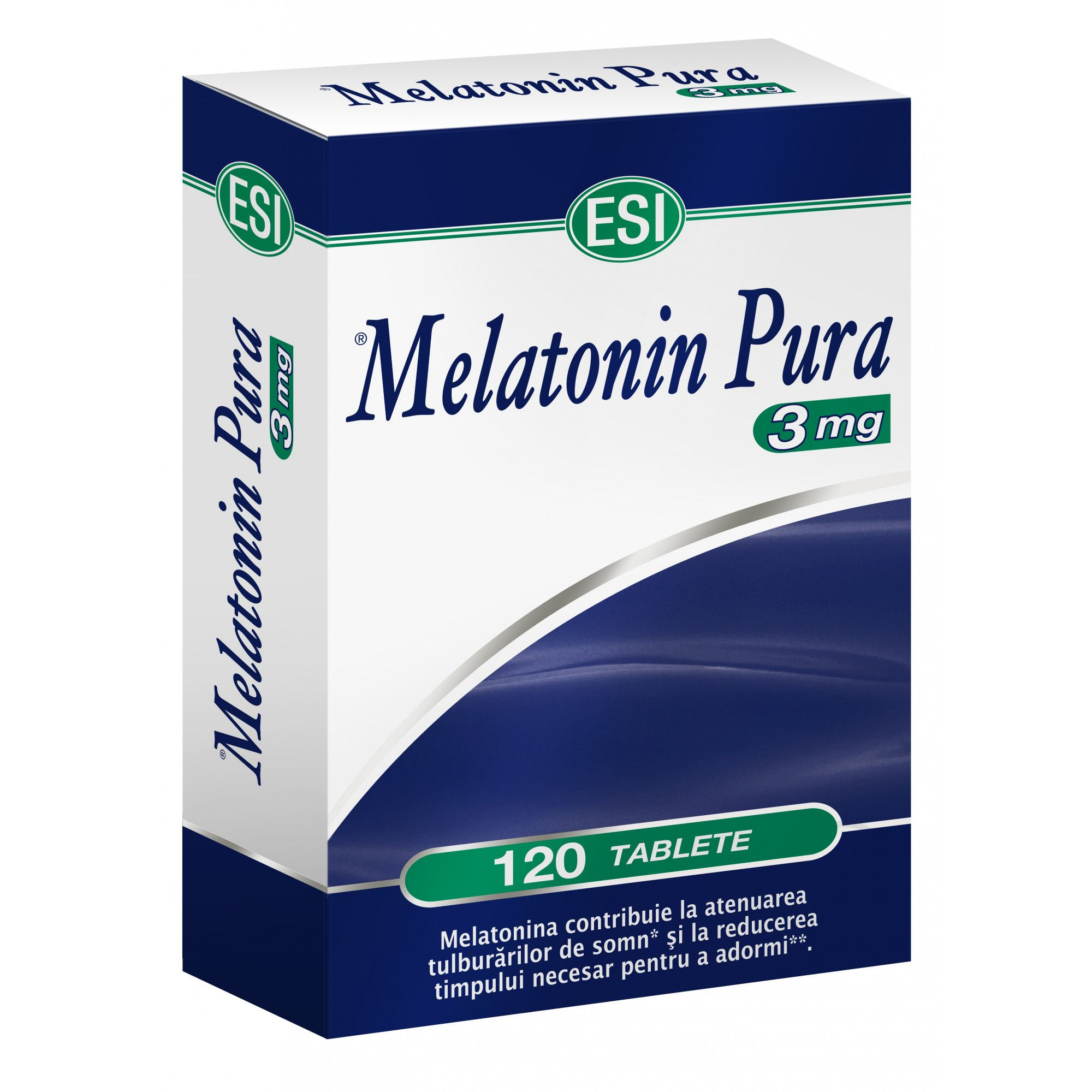 Melatonina Pura, 3 mg, 120 comprimate, Esi Spa imagine produs 2021