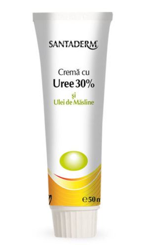 Crema cu uree 30% si ulei de masline Santaderm, 50 ml, Vitalia drmax.ro