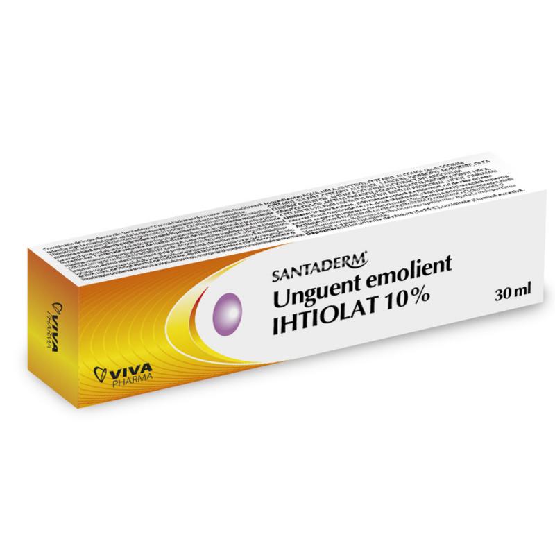 Unguent emolient Ihtiolat 10% Santaderm, 30 ml, Vitalia drmax poza