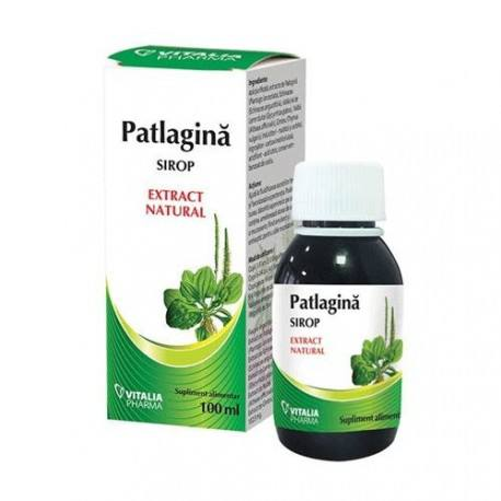 Sirop de patlagina, 100 ml, Vitalia imagine produs 2021