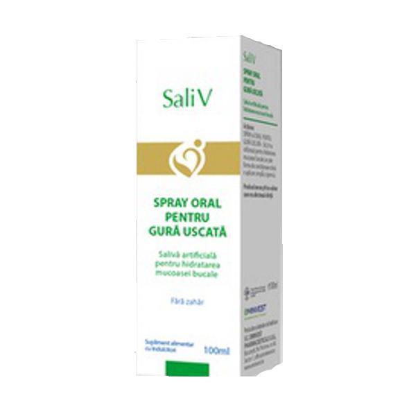 Oncosupport Sali V Spray oral pentru gura uscata, 100 ml, Eminvest drmax.ro