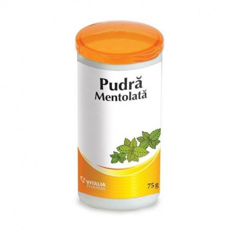 Pudra mentolata, 75 g, Vitalia